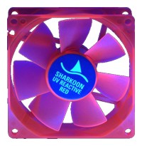 Sharkoon UV-Reactive Fan Red