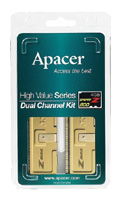 ApacerDDR2 800 DIMM 4Gb kit (2GB*2)