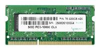 ApacerDDR3 1333 SO-DIMM 2Gb