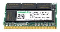 KingmaxDDR 333 microDIMM 512 Mb