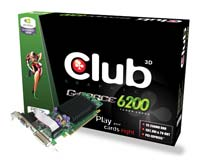 Club-3DGeForce 6200 350Mhz PCI-E 128Mb 550Mhz