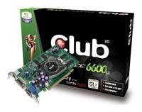Club-3DGeForce 6600 LE 300Mhz PCI-E 256Mb