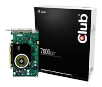 Club-3D GeForce 7600 GT 560Mhz PCI-E 256Mb