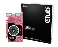Club-3DRadeon X1650 Pro 600Mhz PCI-E 256Mb