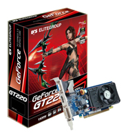 ECSGeForce GT 220 625Mhz PCI-E 2.0