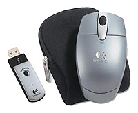 Logitech Cordless Optical Mouse for Notebooks Silver