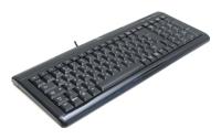 LogitechUltra-Flat Keyboard Black USB+PS/2
