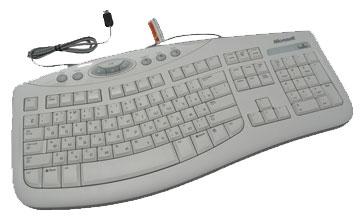 MicrosoftComfort Curve Keyboard 2000 White USB