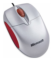Microsoft Notebook Optical Mouse Silver-Red USB