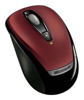 Microsoft Wireless Mobile Mouse 3000 Red USB