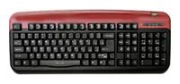 Oklick300 M Office Keyboard Red USB+PS/2
