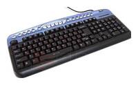 Oklick330 M Multimedia Keyboard Blue USB+PS/2