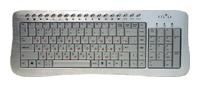 Oklick380 M Office Keyboard Silver USB