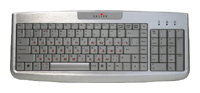 Oklick580 S Office Keyboard Silver USB