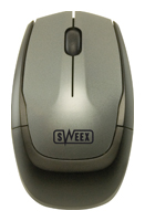 SweexMI401 Notebook Wireless Optical Mouse Silver-Black